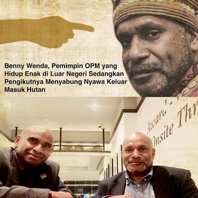 Benny Wenda Hidup Enak di Luar Negeri, Sementara Pengikutnya ???