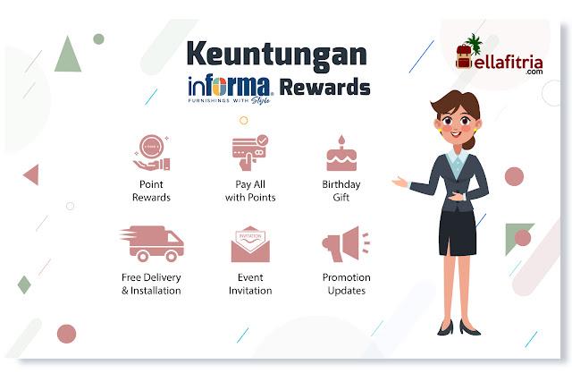 Beberapa keuntungan dari Informa Rewards