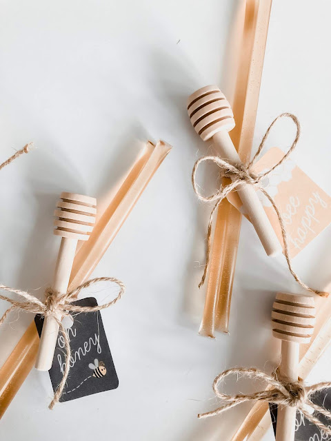 Follow along with me as I DIY these adorable and simple honey bee themed party favors!