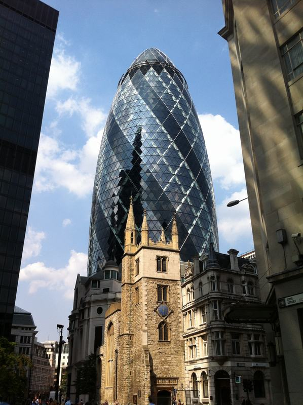 edificio Gherkin, pepinillo, la torre Swiss Re