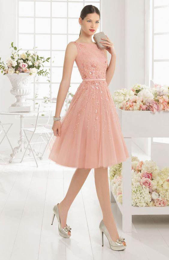 vestidos cortos rosados