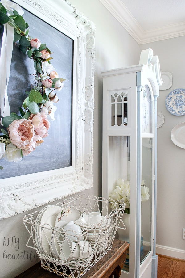 shabby chic clock makeover