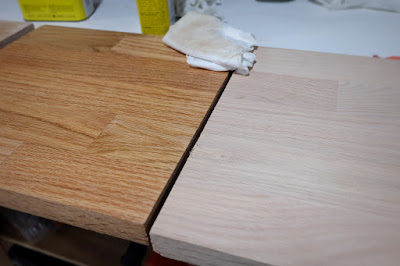 red oak shelf tung oil