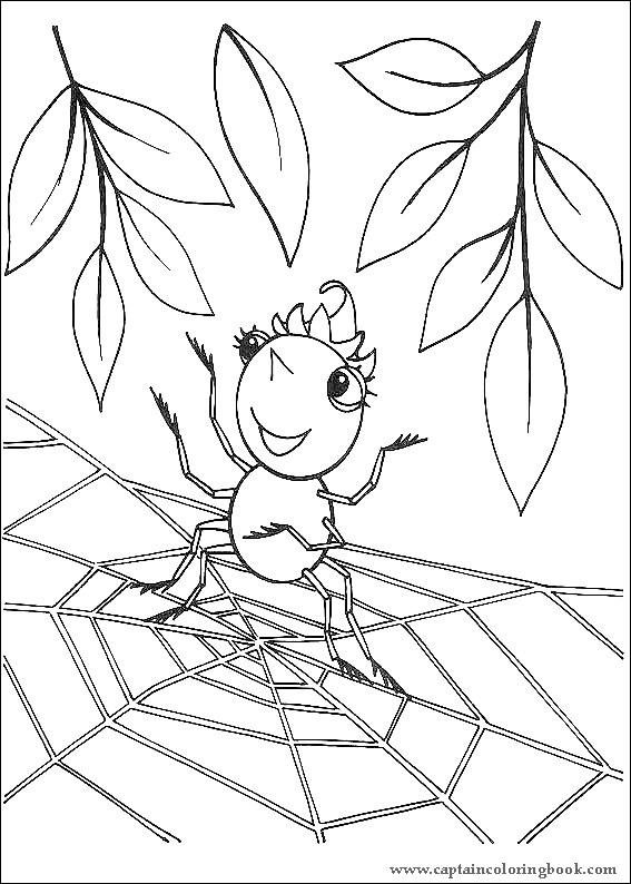 Miss Spider coloring pages on Coloring-Book.info | 794x567