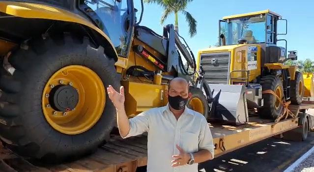 Prefeito de Miracema recebe maquinário do Governo do Tocantins nesta terça-feira, 30