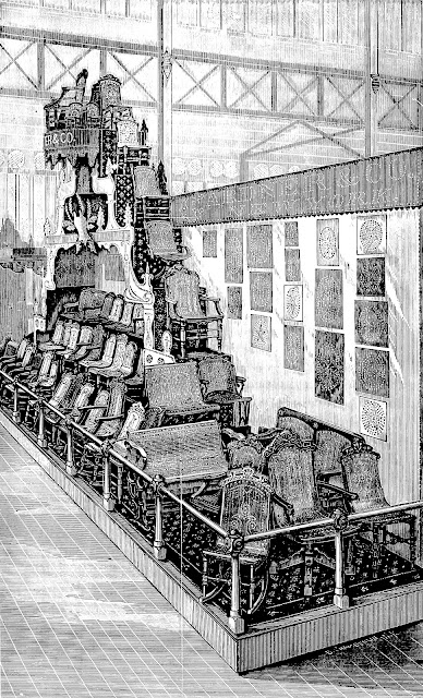 Centennial Exhibition of 1876 furniture display