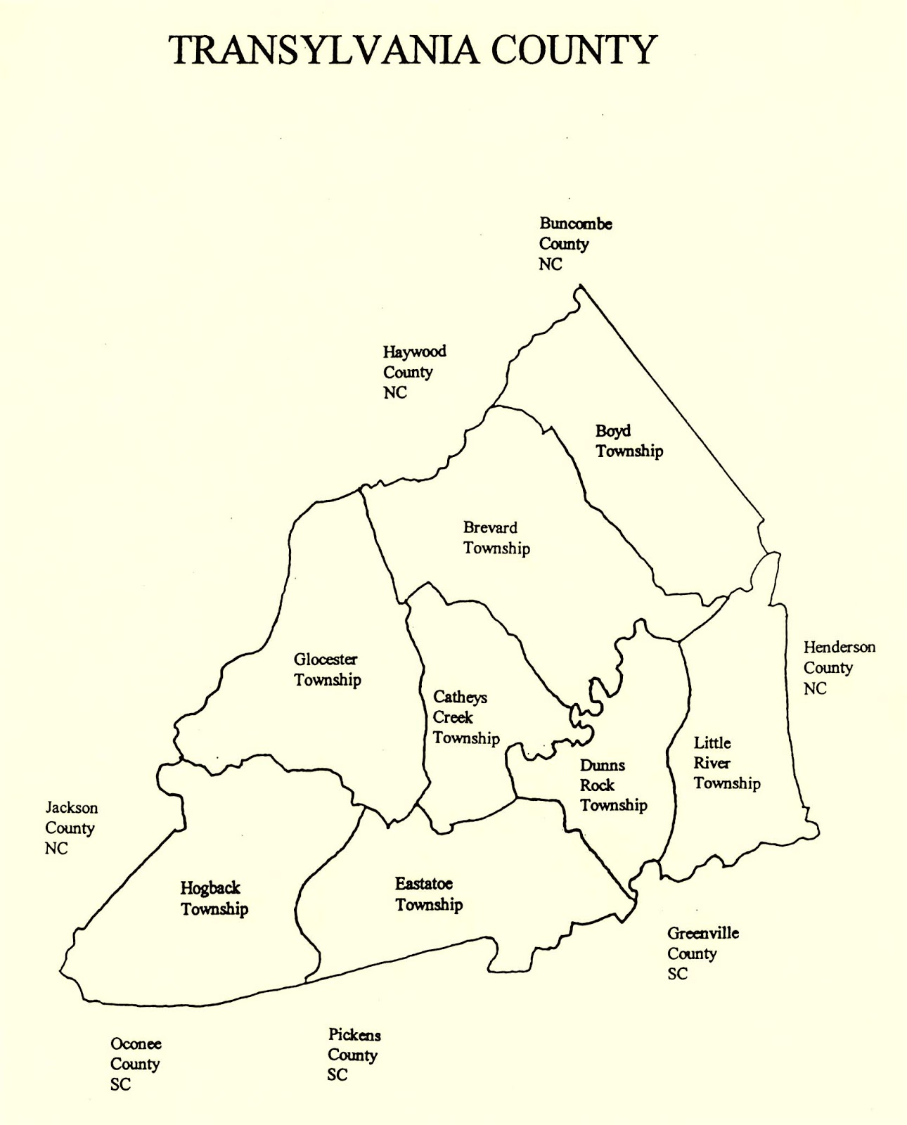 Haywood County Nc Map.The Rowell Bosse North Carolina Room Key Role The Township Plays In