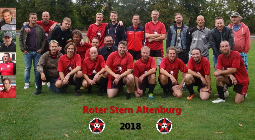 Roter Stern Altenburg Fussball Mannschaftsfoto Roter Stern
