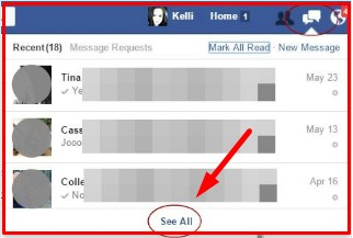 how to view secret conversations on facebook