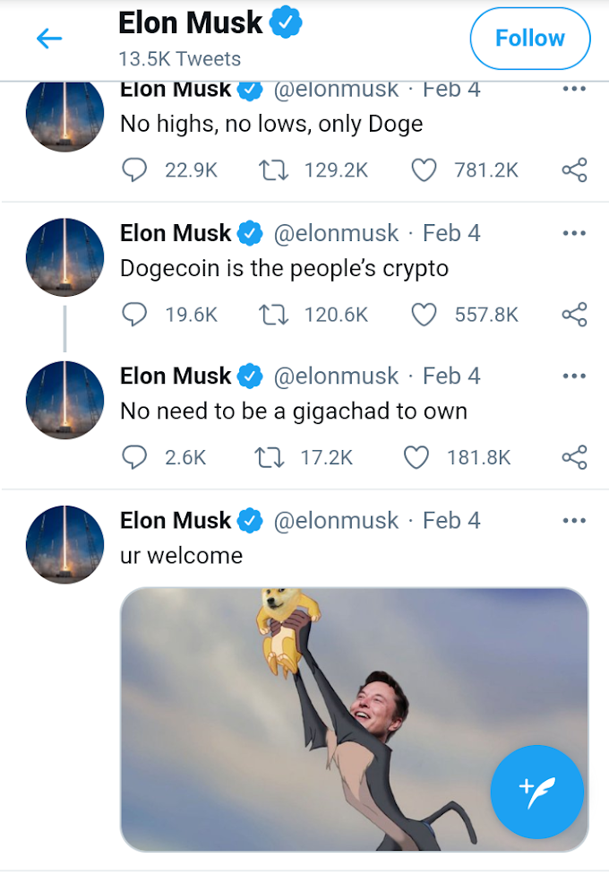 Elon Musk invests for Bitcoin