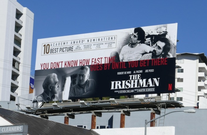 Irishman Academy Award nominee billboard