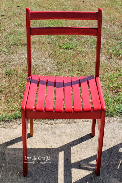 Doodlecraft Colorful Wooden Chairs Redone