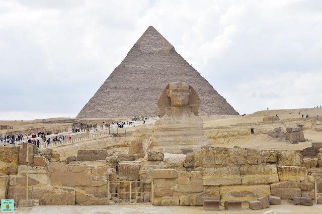 Esfinge y pirámide de Kefren