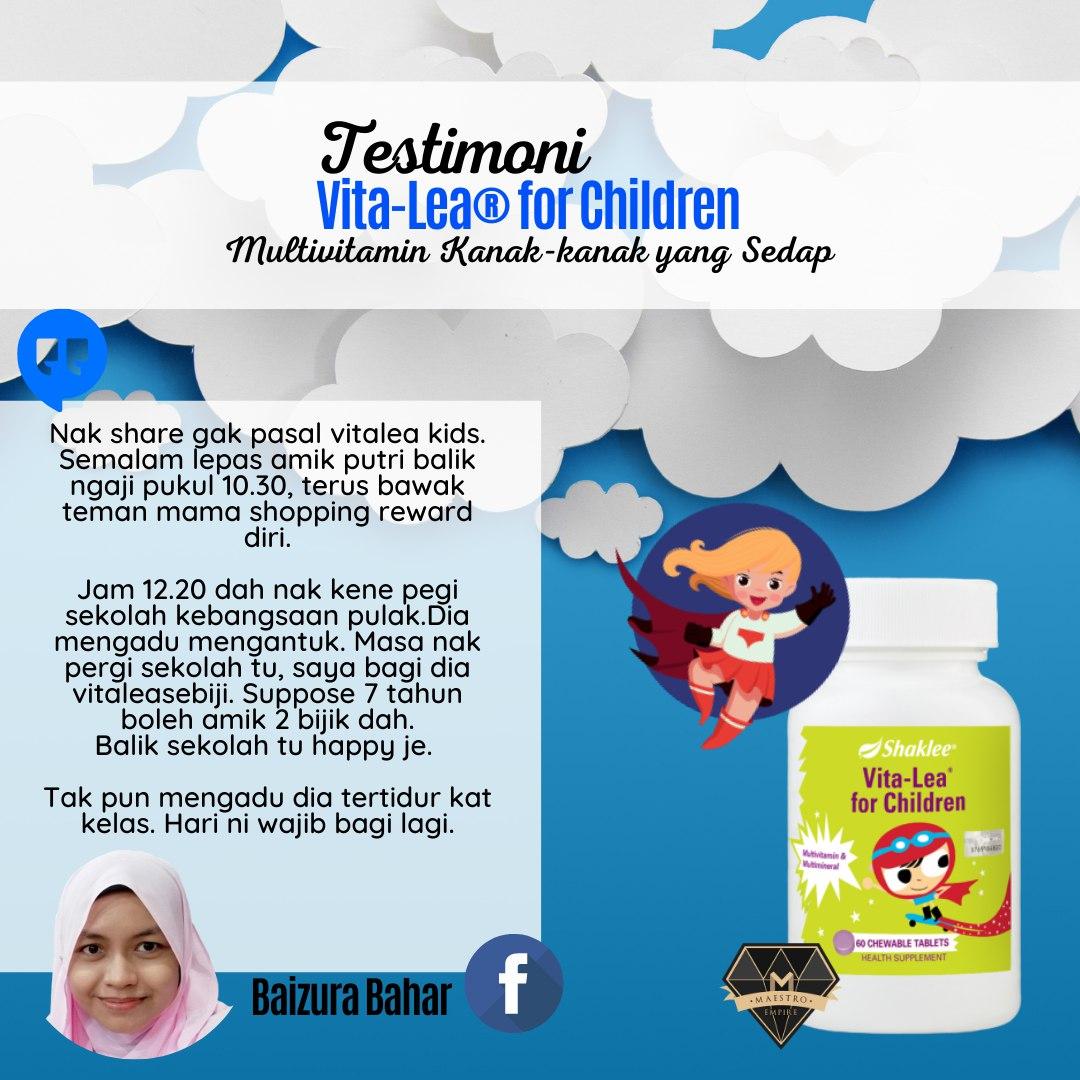 Vita-Lea for Children Shaklee: Manfaat, Keistimewaan dan Testimoni