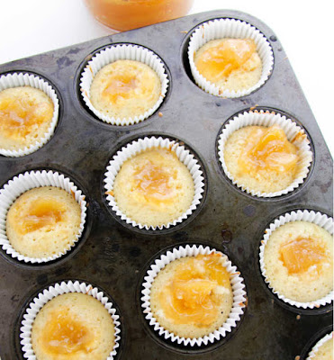 apple pie filling bakedinto cupcakes