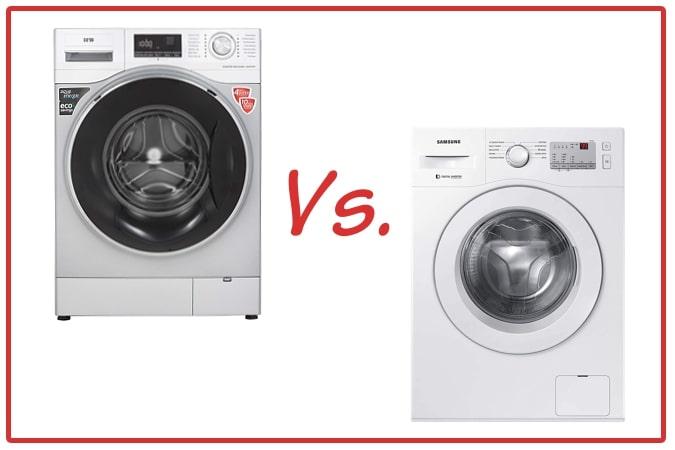 IFB Senator WXS (left) and Samsung WW60R20GLMA/TL (right) Washing Machines.