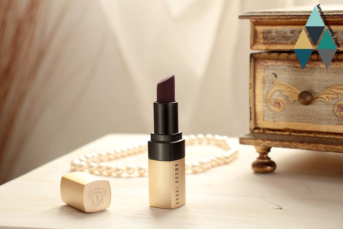 revue beauté blog rouge à lèvres luxe plum noir bobbi brown