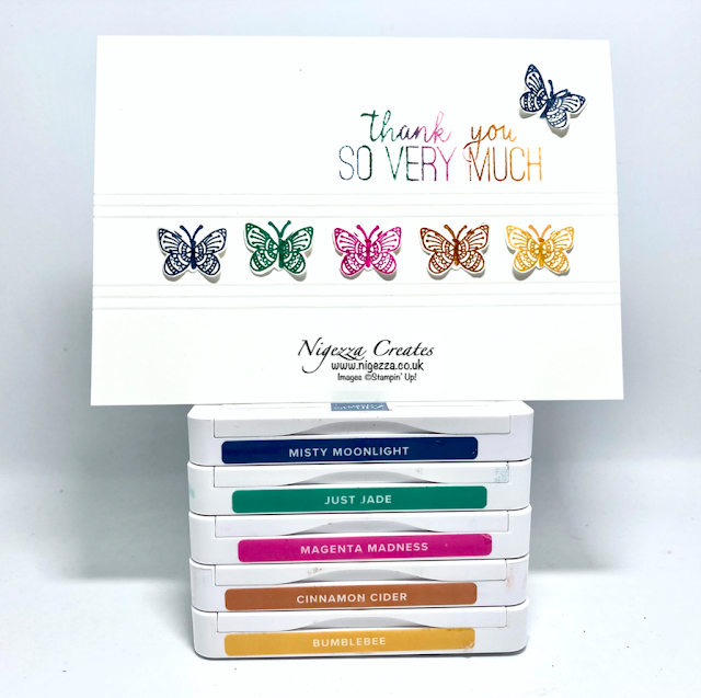Butterfly Gala Colour Challenge Card