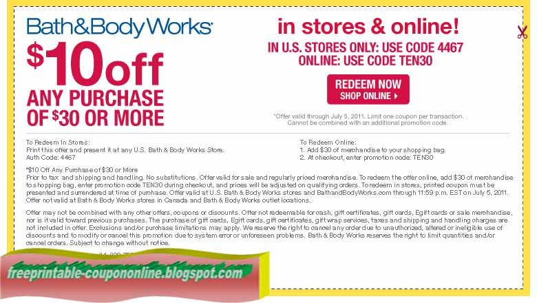 Bath And Body Works Coupons Printable. $10 Off Bath & Body Works Coupons (December) Print or show this Bath And Body Works Printable Coupons for get $10 off when you make an in store purchase of $30 or more.
