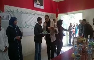 الثانوية الإعدادية سيدي بومدين بصفرو تحتفي بمتفوقيها وتهنئ نسائها بمناسبة اليوم العالمي للمرأة