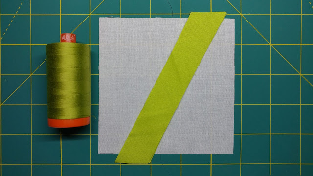 A modern slice and stitch quilt