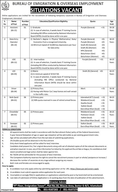 bureau-of-emigration-overseas-employment-jobs-2021-apply-online-at-beoe-gov-pk