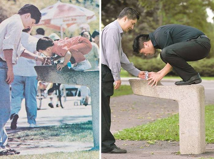 He graduated from the university and still can not drink from the fountain without outside help ...