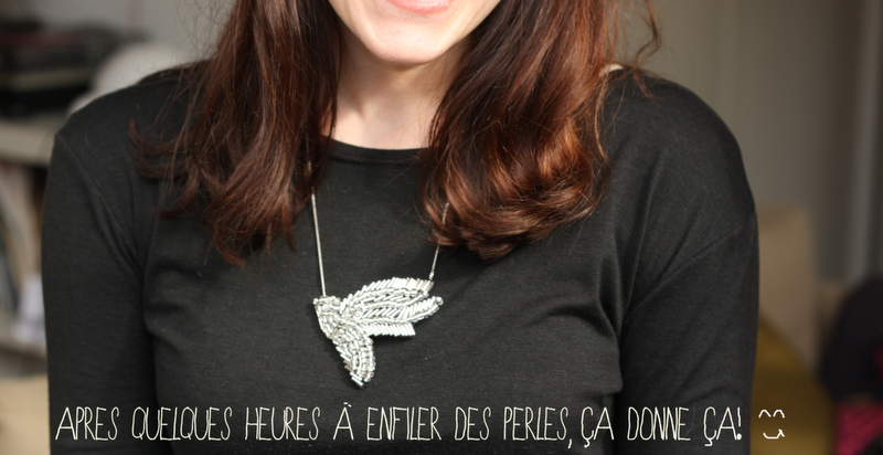 collier shourouk vintage bird DIY