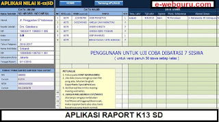 aplikasi raport k13 SD