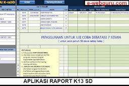 Aplikasi Raport K13 SD: Sesuai Format Dapodik