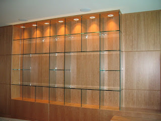 A Backlit Glass Shelving