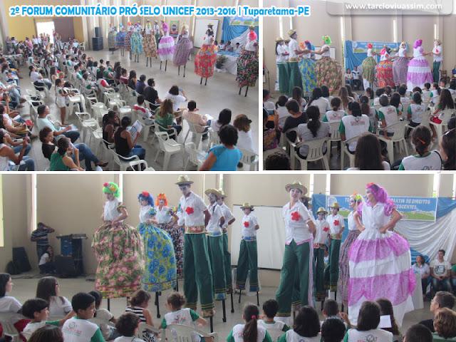 TUPARETAMA REALIZOU NESTA SEMANA O 2º FORUM COMUNITÁRIO PRÓ SELO UNICEF 2013-2016