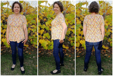 Creates Sew Slow: Vogue 8710 a versatile Katherine Tilton top