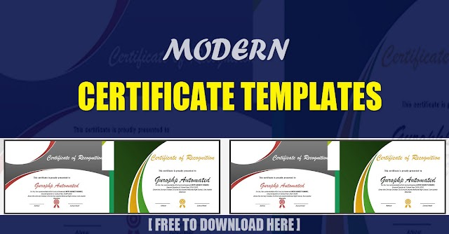 Free Modern Certificate Templates | Download Now!