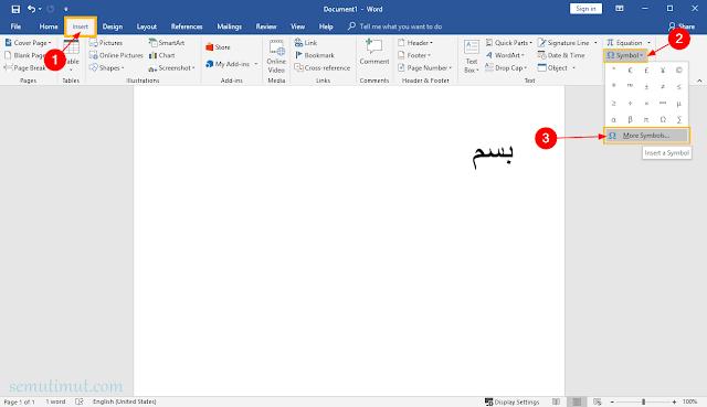 cara menulis arab di word dengan harakat