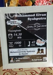 Contoh Desain Biodata Bayi Warna Hitam - Percetakan Tanjungbalai