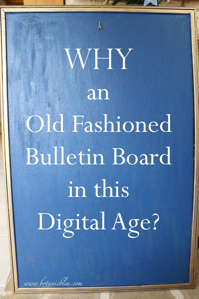 Inked Blue Bulletin Board Debut explains why use a traditional cork bulletin board during the digital age