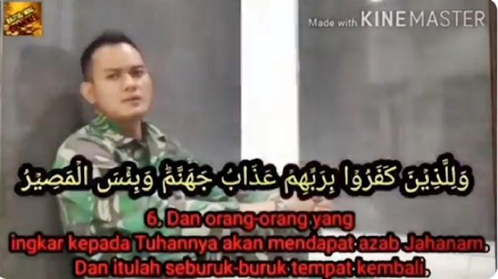 Viral! Lantunan Murottal Merdu Prajurit TNI yang Ditahan gegara Video Sambut Ha6ib Ri2ieq