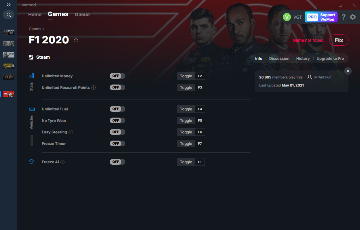 F1 2020:  Trainer (+7) from 05/01/2021 [WeMod]