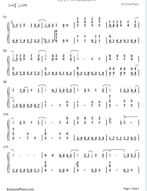 17 Agustus Piano Notes October E