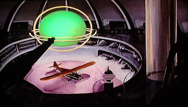 The plane on board the Metalunan ship