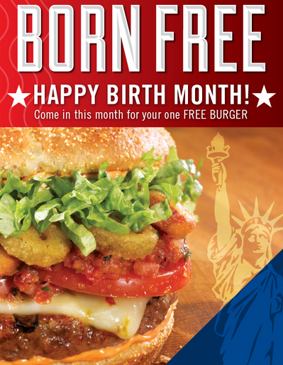FREE IS MY LIFE: FREE For MY Birthday: Gourmet Burger From