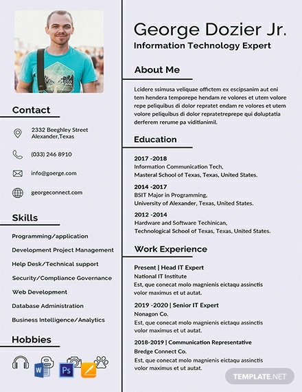 Download 24 Template Cv Word Gratis Kreatif