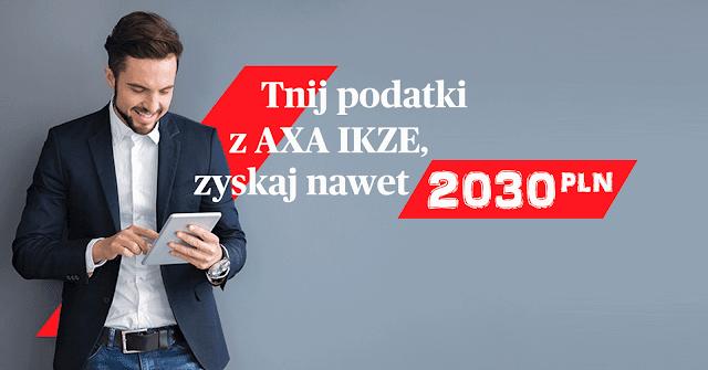 IKZE AXA - zyskaj nawet 2030 zł premii