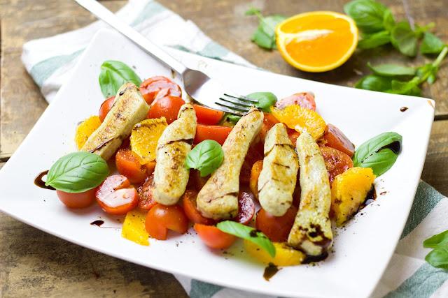 Salad Ayam dengan Balsamic Dressing