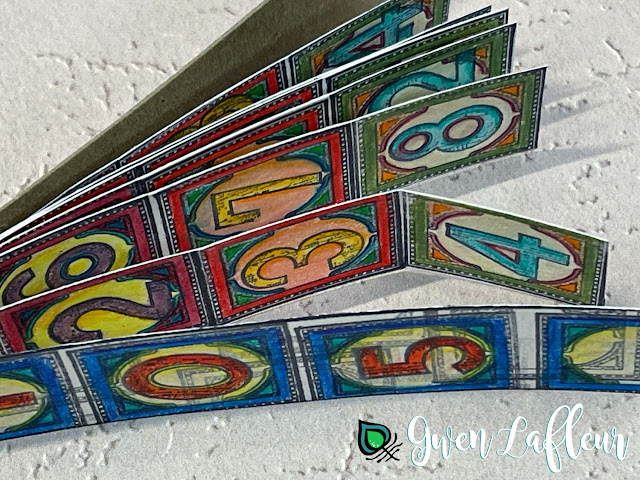 Handmade Number Label Tear Book - Gwen Lafleur