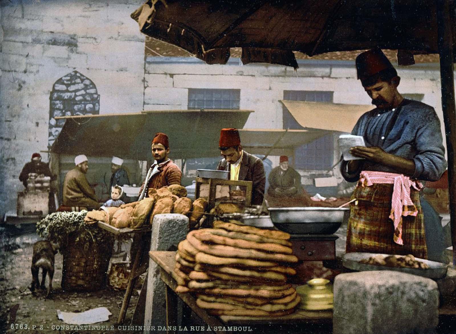 A cook in the Rue de Stamboul.