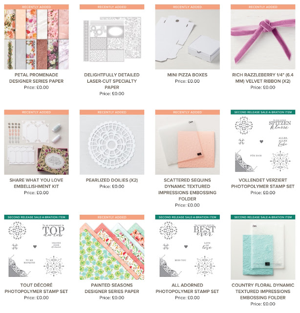 NEW 2019 Sale-A-Bration Recently Added FREE Products