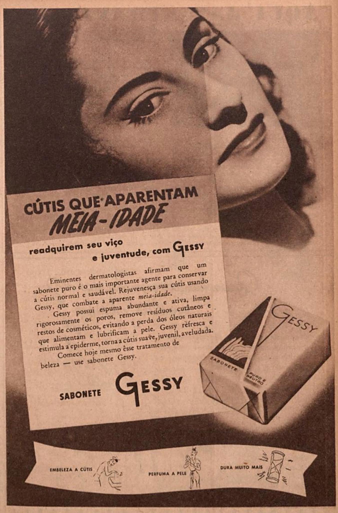 Propaganda antiga do Sabonete Gessy veiculada em 1946