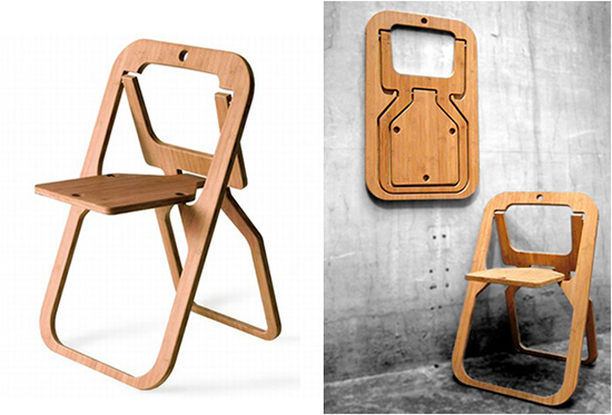 14 kursi lipat kreatif dari plywood